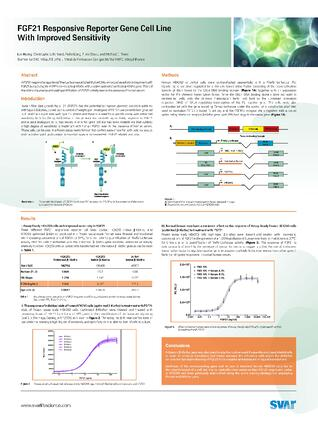 Scientific Poster: FGF21 Responsive Reporter Gene Cell Line with Improved Sensitivity